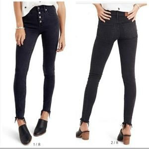 """{ Madewell } 9"""" high rise button fly jeans"""